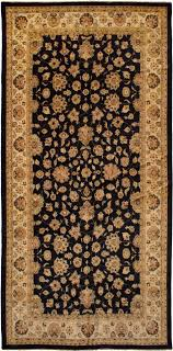 chobi twisted black wool rug hand knotted indian rug 8 11