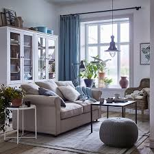 glass living room furniture. A Cosy Beige And White Living Room With Blue Curtains GRÖNLID 2-seat Glass Furniture