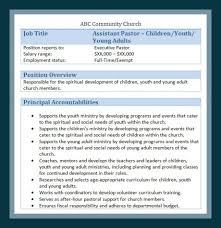 Sample Church Employee Job Descriptions