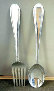 giant fork and spoon wall decor spoon and fork wall hanging spoon and fork wall hanging