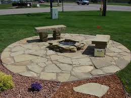 flagstone patio with fire pit. Stone Patio Ideas- Everybody Wants To Change Their Home A Little From Time Flagstone With Fire Pit