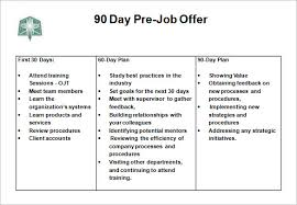 Free 90 Day Plan Template For New Job Magdalene Project Org