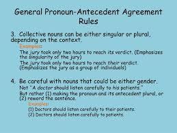 Pronoun Antecedent Agreement Ppt Pronoun Antecedent Agreement Powerpoint Presentation Id 5346853