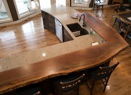 image of live edge wood countertops shape