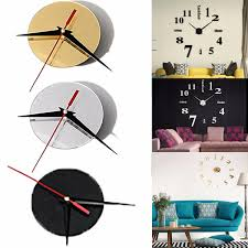 large quartz wall clock movement diy hands mechanism repair parts tool kit silver cod