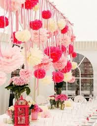 Tissue Balls Party Decorations 100 Tissue Paper Pom Poms Decoration Hanging Pom Poms CHOOSE YOUR 4