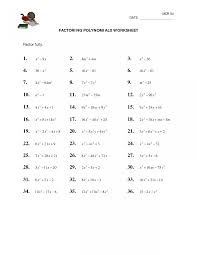 awesome collection of 9th grade factoring worksheets math go solving quadratic equations for sixth grade factoring