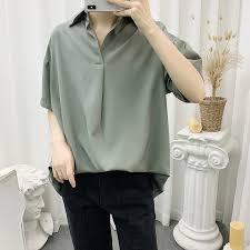 <b>Trend</b> Plain Shirts Fashion Short Sleeve Shirt <b>Men's Summer Loose</b> ...