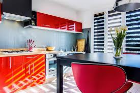 Cuisine Moderne Rouge Et Gris Emilie Peyrille Architecture