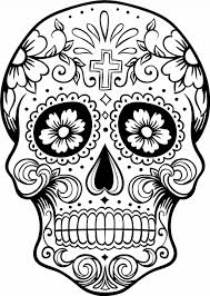 Adult ~ Skull Coloring Pages Day Of Dead Sugar Skulls Printable ...