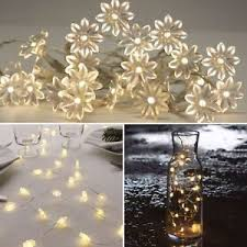 Image Is Loading BATTERY Operated FLOWER Lights 20 LED Indoor FAIRY