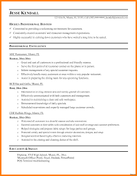 Hostess Resume Examples Sample Resume For Hostess Job Executive Profile Professional 36