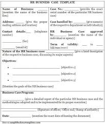 Free Case Template Free Business Case Template Word