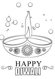 Small Picture Diwali Candle coloring page Free Printable Coloring Pages