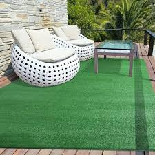 artificial turf rugs for outdoor rug in green free