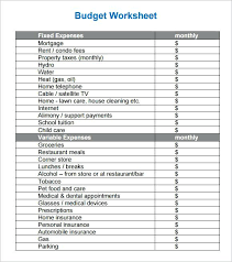 Free Simple Budget Worksheet Template – Lrnsprk
