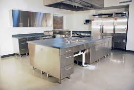 Metal Kitchen Island Tables Stainless Steel Home Kitchen Home Design Ideas