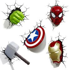 Marvel Avengers 3d Wall Lights Details About Marvel Avengers 3d Wall Light Hulk Iron Man