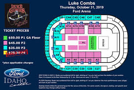 Idaho Center Concert Seating Chart Events Luke Combs Ford Idaho Center