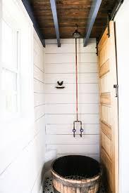 bucket tub copper shower fixtures