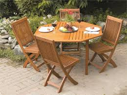 outdoor table and chair sets. 4 Person Dining Set With Folding Chairs Outdoor Table And Chair Sets