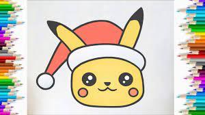 Cùng Bé Tập Vẽ và tô màu pikachu phim hoạt hình pokemon | HOW TO DRAW CUTE  CHRISTMAS PIKACHU - YouTube