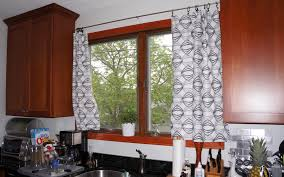 Kitchen Drapery Black And White Kitchen Curtains Modern Black And White Kitchen