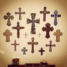 decorative crosses to hang on wall unique cross wall dining room home decor