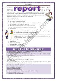 write a report writing report esl worksheet by keyeyti