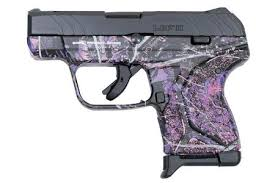 ruger lcp ii 380 acp carry conceal pistol with muddy girl camo finish