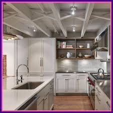 basement lighting. Rustic Lighting Ideas Basement Shocking Brownstone Garden Level Kitchen With Exposed Ceiling Joists Of