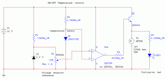 the electrical circuit diagram of this temperature control circuit temperature control diagram wiring diagram expert on off temperature control electronics lab temperature controller diagram temperature