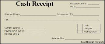 Cash Paid Receipt
