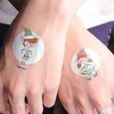 3 шт рождественские светящиеся временные татуировки наклейки флуоресцентные