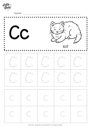 This letter c worksheet gives your child an introduction to the basic sound that 'c' makes, and also allows them to practice writing the capital and lower case letter c. Free Letter C Tracing Worksheets