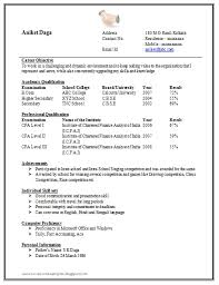 Simple Resume Format Extraordinary Simple Resume Format For Freshers Doc Resume And Menu
