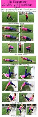 no equipment 30 minute hiit workout