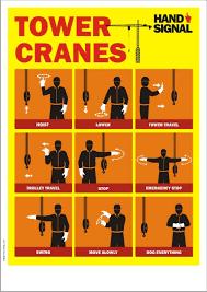 Crane Safety Poster Tower Crane Hand Signals Safety