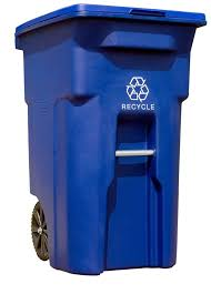 toter s blue 025564 r1blu residential heavy duty 2 wheeled recycling bin holds 64 gallons this fits into any garbage company s lifting mechanism