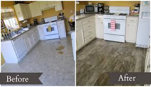 even though the vinyl flooring was in great shape it wasn t really doing anything for the other upgrades that had been done it sort of just blended in