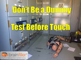 Free Dont Be A Dummy Touch Before Test Electrical Safety