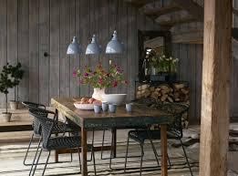 rustic furniture dining room design table fl pendant lights decoration singapore