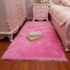 gianco ferro faux fur sheepskin rug fluffy mat chair pad fur area rugs floor carpet for room sofa pink 2 3x5ft wantitall
