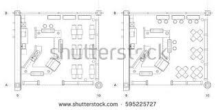Standard Office Furniture Symbols On Floor Plans Stock Vector Art Furniture Icons For Floor Plans