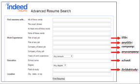 Indeed Resume Impressive Back to the Basics Slicing and Dicing Indeed's Resume Search by