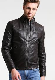 mens toby leather jacket brown o88p6 from tommy hilfiger