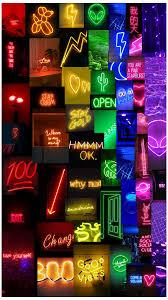 Neon rainbow aesthetic phone wallpaper ...