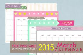 Free Printable March 2015 Calendar Cute And Pretty