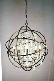 bronze orb chandelier antique steel bronze chandelier rubbed