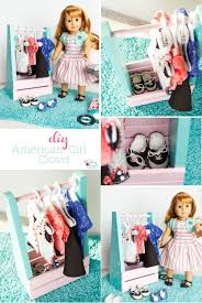 this is such a cute diy american girl idea to make a portable clothes